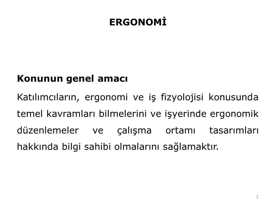 ERGONOMİ Ergonomi Yunancada iş anlamına gelen ergo ile yasalar anlamına gelen nomos kelimelerinden üretilmiştir.