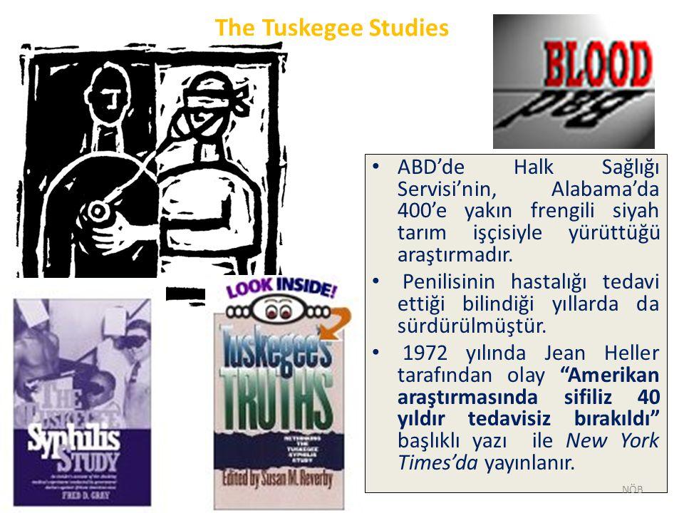 The Tuskegee Studies ABD'de Halk Sağlığı Servisi'nin, Alabama'da 400'e yakın frengili siyah tarım işçisiyle yürüttüğü araştırmadır. Penilisinin hastal