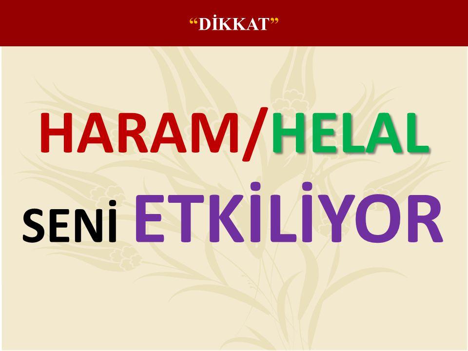 "HELAL HARAM/HELAL SENİ ETKİLİYOR ""DİKKAT"""