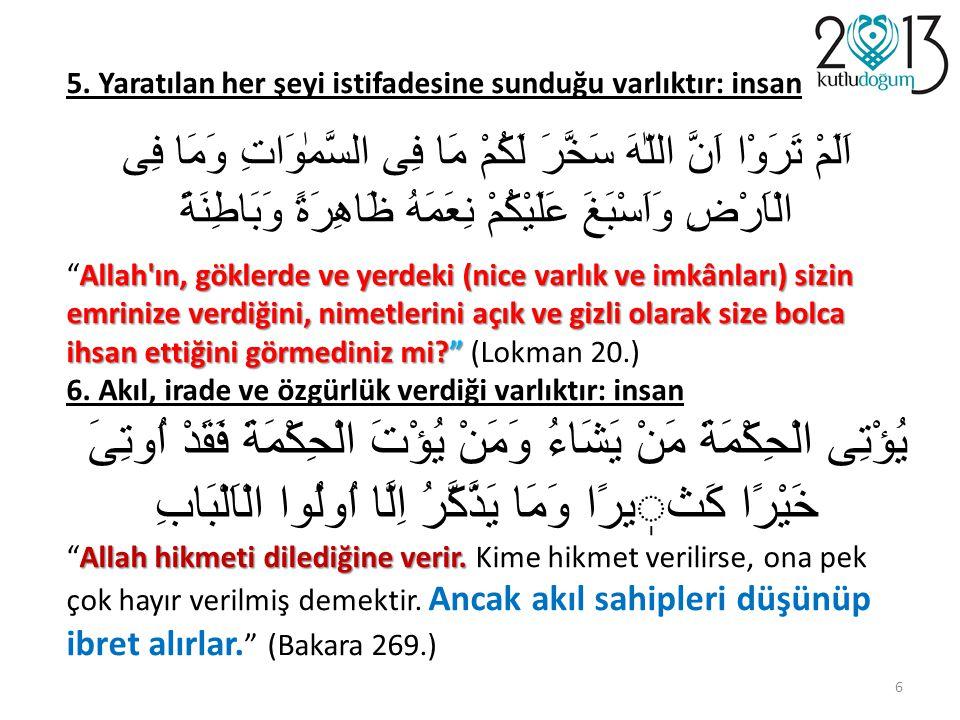 وَكُونُوا عِبَادَ اللّهِ إِخْوَانًا Ey Allah'ın kulları, kardeş olunuz Ey Allah'ın kulları, kardeş olunuz (Müslim, Birr, 25) diye uyarmanıza rağmen, kardeş olmayı bir türlü beceremedik ama çok kolay düşman olduk, düşmanlar ürettik… 57