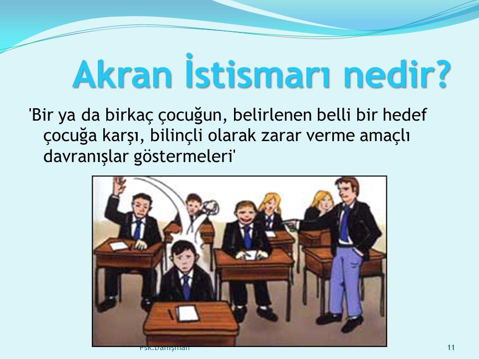 Müge ÖZTOPAL Psk.Danışman11 Akran İstismarı nedir.