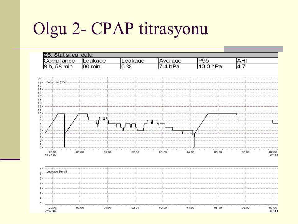 Olgu 2- CPAP titrasyonu