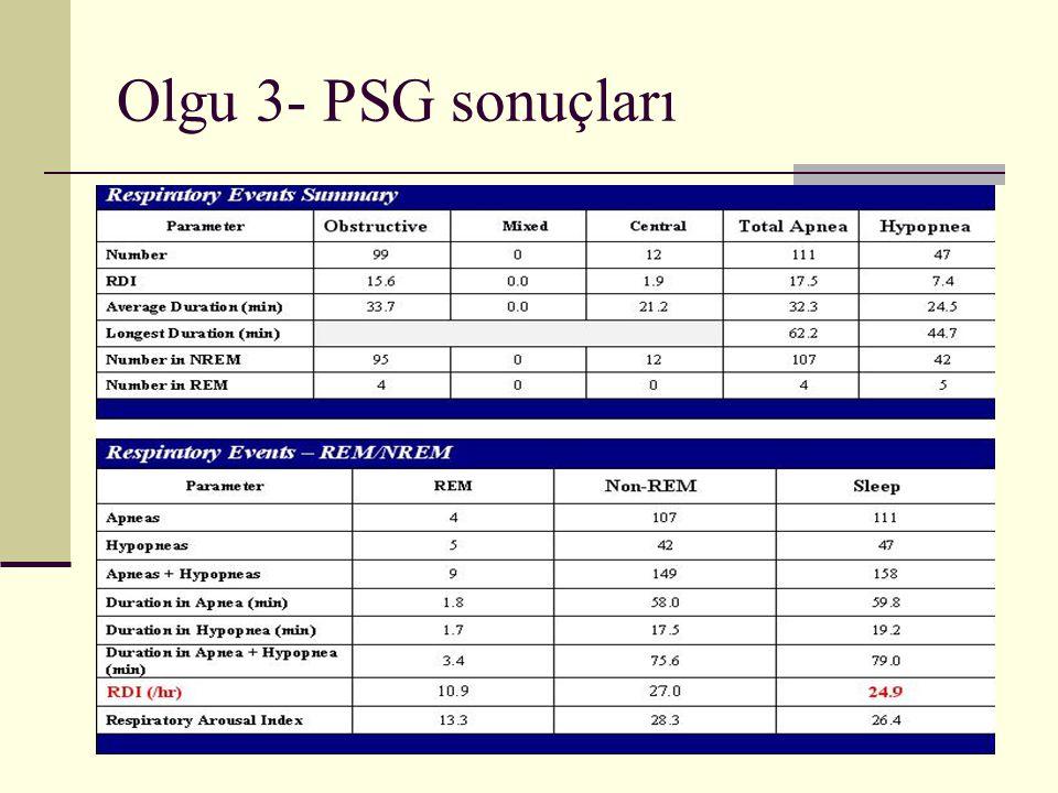 Olgu 3- PSG sonuçları