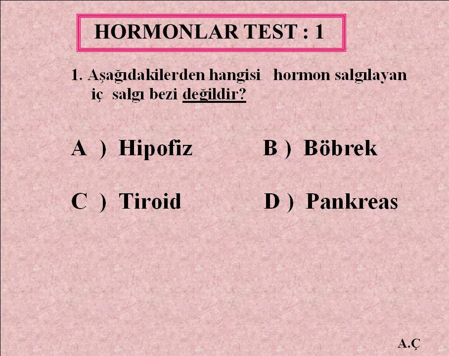 HORMONLAR TEST : 1