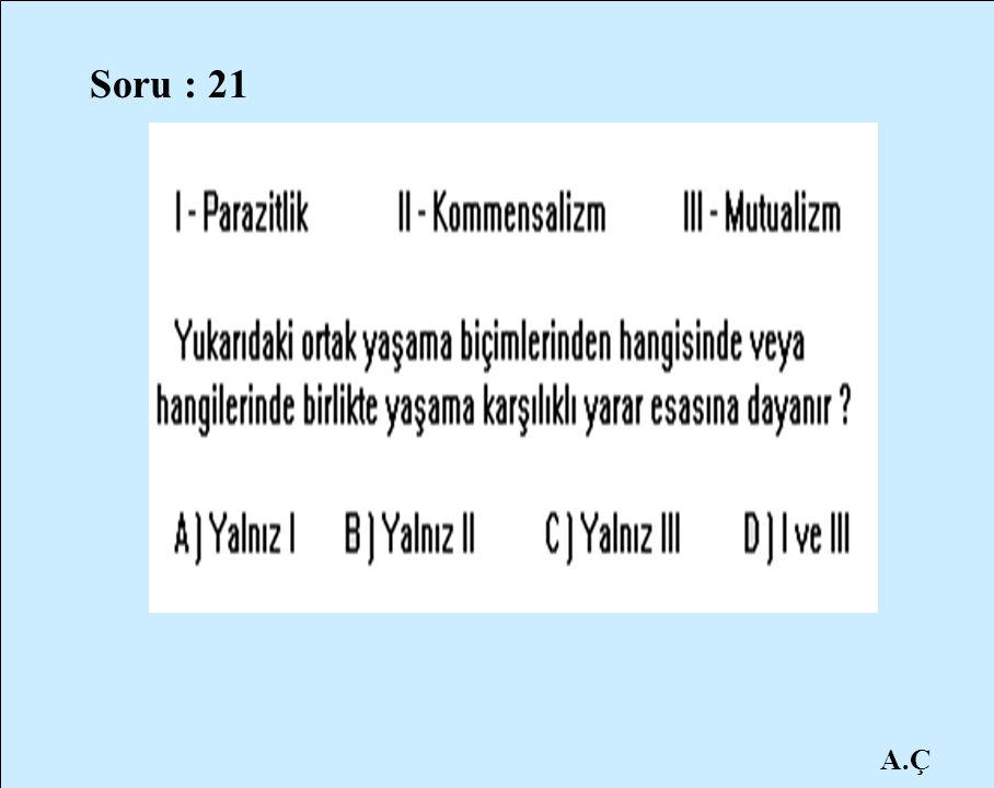A.Ç Soru : 21