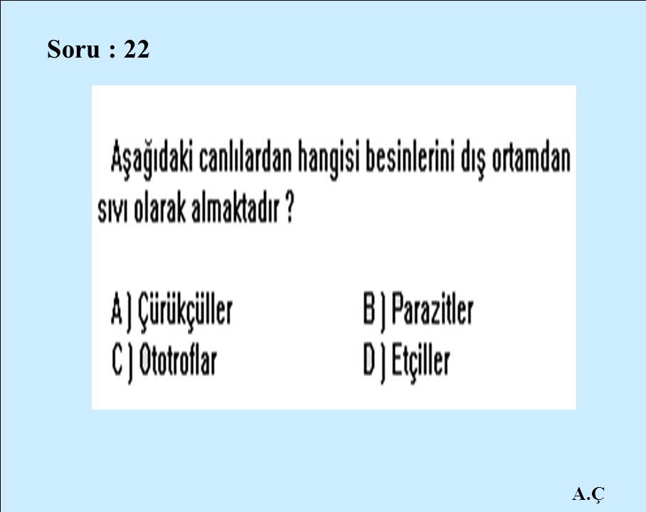 A.Ç Soru : 22