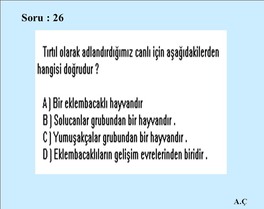 A.Ç Soru : 26