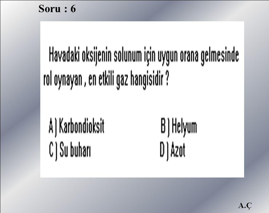 A.Ç Soru : 6