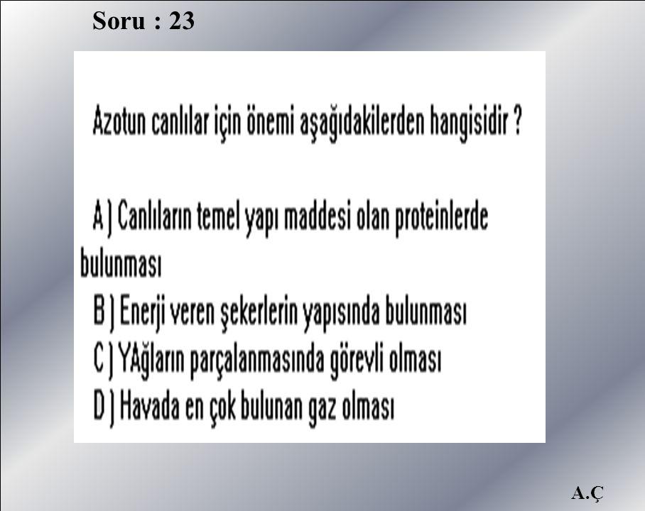 A.Ç Soru : 23