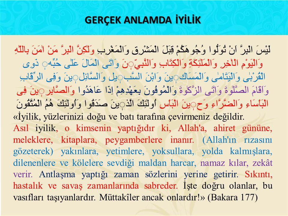 Bir adam Nebî sallallahu aleyhi ve sellem' e gelerek: – Benim hayvanım helâk oldu, bana bineceğim bir hayvan ver, dedi.