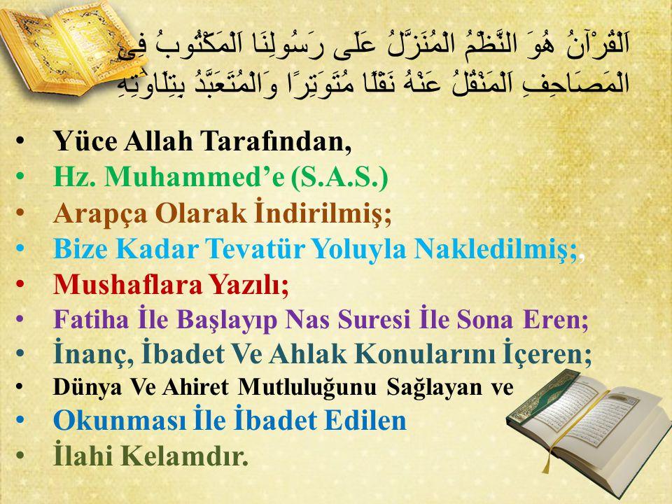 Yüce Allah Tarafından, Hz.