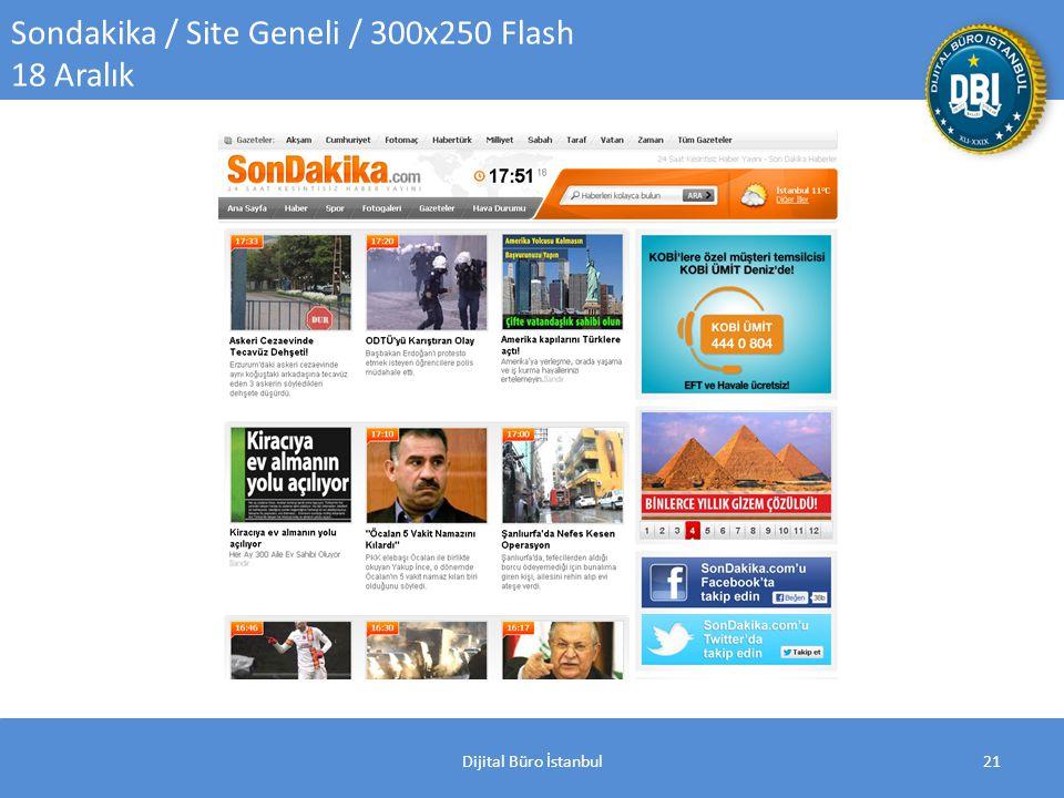 Dijital Büro İstanbul21 Sondakika / Site Geneli / 300x250 Flash 18 Aralık