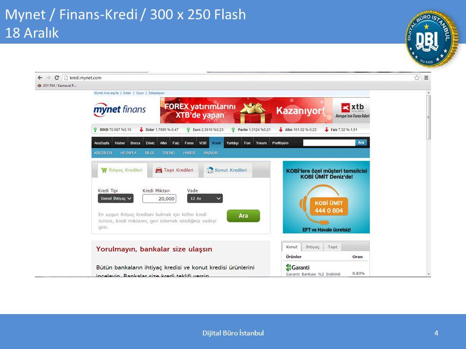 Dijital Büro İstanbul4 Mynet / Finans-Kredi / 300 x 250 Flash 18 Aralık