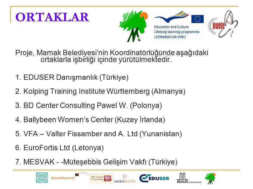 ORTAKLAR Proje, Mamak Belediyesi'nin Koordinatörlüğünde aşağıdaki ortaklarla işbirliği içinde yürütülmektedir.