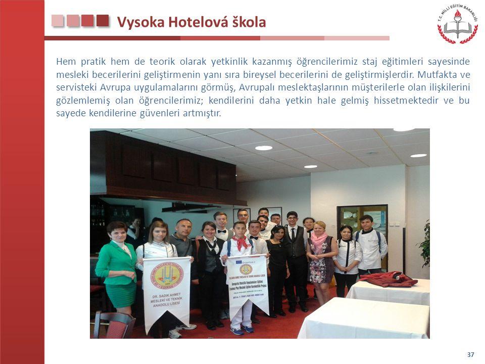 Vysoka Hotelová škola Hem pratik hem de teorik olarak yetkinlik kazanmış öğrencilerimiz staj eğitimleri sayesinde mesleki becerilerini geliştirmenin y