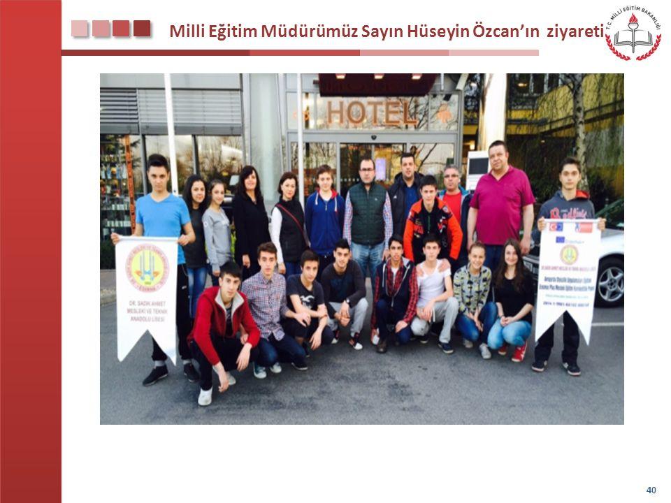 Milli Eğitim Müdürümüz Sayın Hüseyin Özcan'ın ziyareti 40