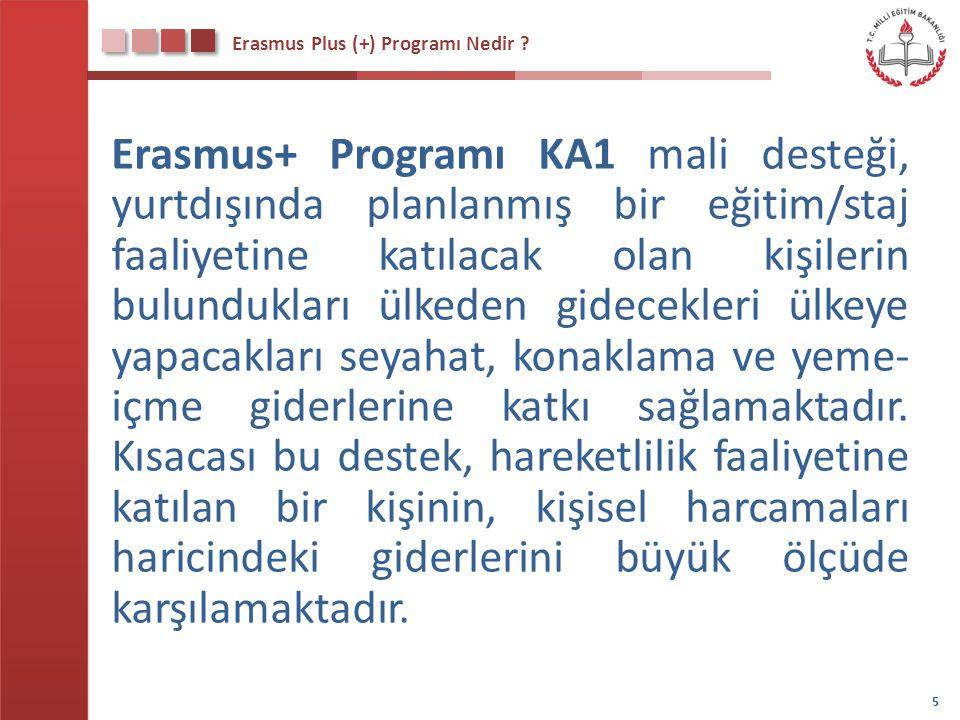 Erasmus Plus (+) Programı Nedir ? Erasmus+ Programı KA1 mali desteği, yurtdışında planlanmış bir eğitim/staj faaliyetine katılacak olan kişilerin bulu
