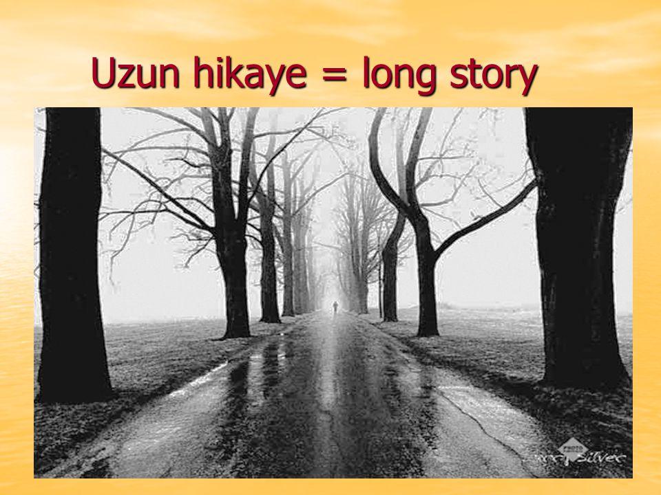 Uzun hikaye = long story Uzun hikaye = long story