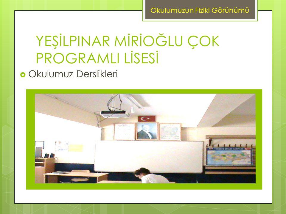 YEŞİLPINAR MİRİOĞLU ÇOK PROGRAMLI LİSESİ 2007-2008 Öğretim yılında Çocuk Gelişimi ve Eğitimi Alanı açılmıştır.