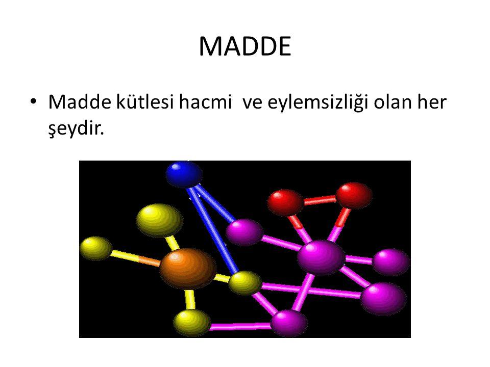 Moleküler katılarda örgüyü oluşturan birimler moleküllerdir.
