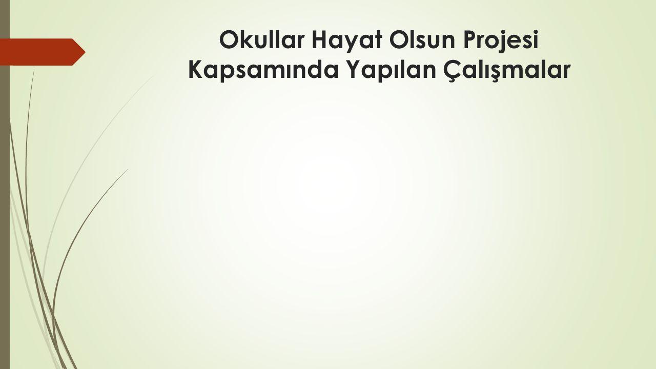 Okullar Hayat Olsun Projesi Kapsamında Yapılan Çalışmalar