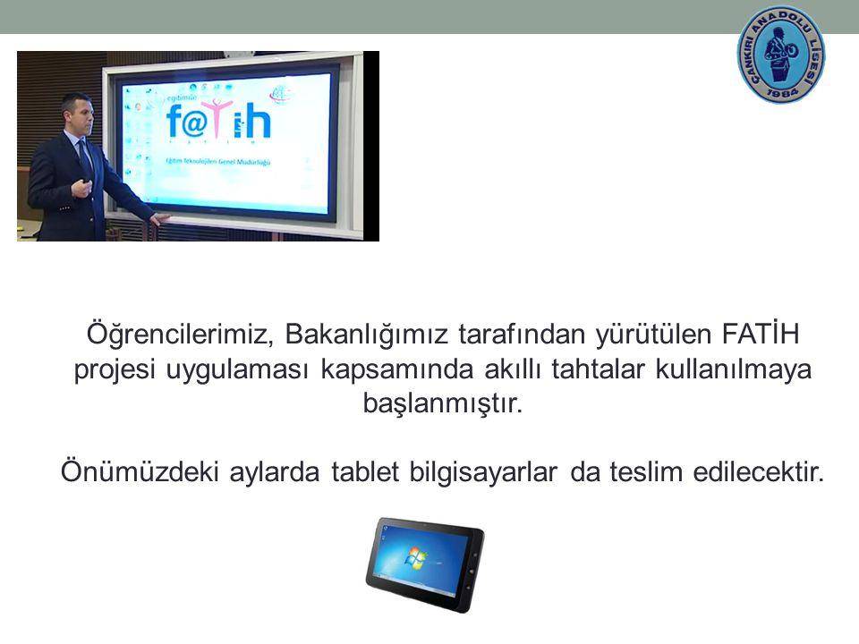 Öğrencilerimiz, Bakanlığımız tarafından yürütülen FATİH projesi uygulaması kapsamında akıllı tahtalar kullanılmaya başlanmıştır.
