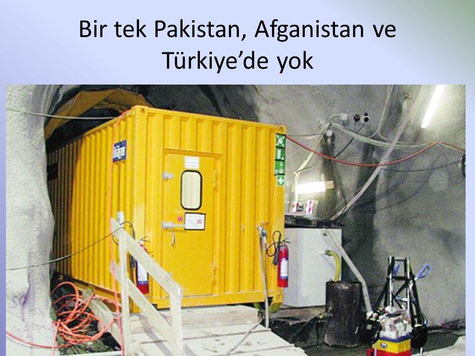 Bir tek Pakistan, Afganistan ve Türkiye'de yok