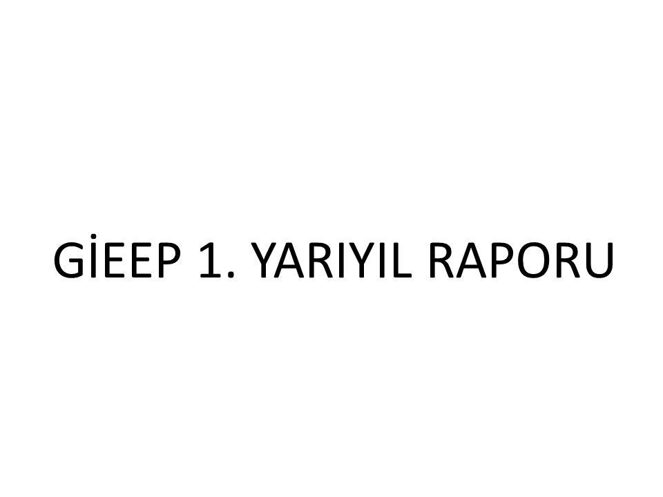 GİEEP 1. YARIYIL RAPORU