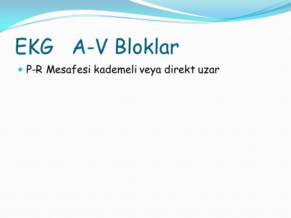 ATRİO-VENTRİKÜLER BLOKLAR 1.DERECE A-V BLOK 2.