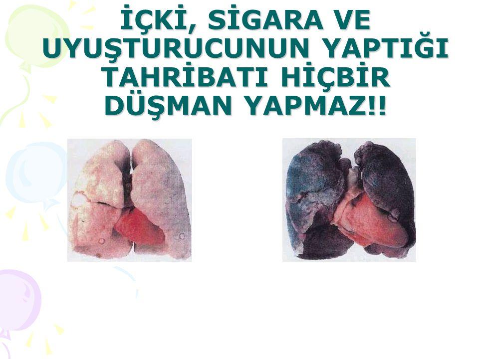20 Dakika Sonra Kan basıncınız düzelir Kalp atışlarınız normale döner El ve ayak ısınız normale döner 8 Saat Sonra Kanınızdaki nikotin ve karbonmonoksit düzeyi yarıya düşer Kanınızdaki oksijen seviyesi normale döner 24 Saat Sonra Karbonmonoksit vücudunuzdan tamamen atılır Akciğerleriniz sigaranın neden olduğu mukusu temizlemeye başlar Kalp krizi riskiniz azalmaya başlar 48 Saat Sonra Vücudunuzdaki nikotin tamamen temizlenir Koku ve tat duyularınızda artış kaydedilir 72 Saat Sonra Nefes almanız kolaylaşır Enerji seviyeniz yükselir 2-12 Hafta Sonra Kan dolaşımınız daha sağlıklı gerçekleşmeye başlar Akciğer fonksiyonunuz %30 oranında artar Yürüme ve koşmanız kolaylaşır 3-9 Ay Sonra Öksürük ve göğüsteki hırıltılarınız azalır.