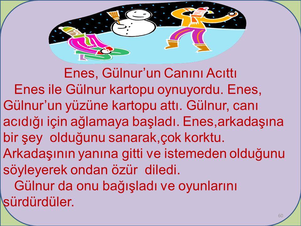 Enes, Gülnur'un Canını Acıttı Enes ile Gülnur kartopu oynuyordu.