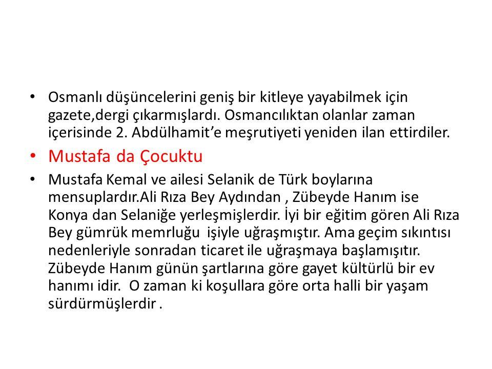 Osmanlı düşüncelerini geniş bir kitleye yayabilmek için gazete,dergi çıkarmışlardı.
