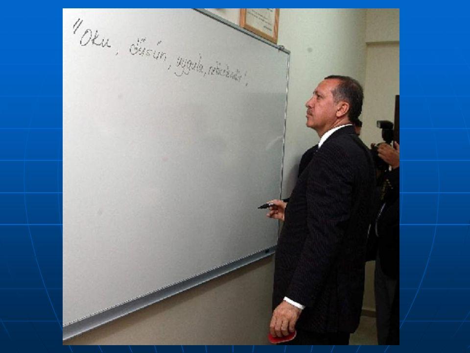 Çocuklarımızın geleceği için… Milli eğitimin sembollerini yazdı: - Oku.