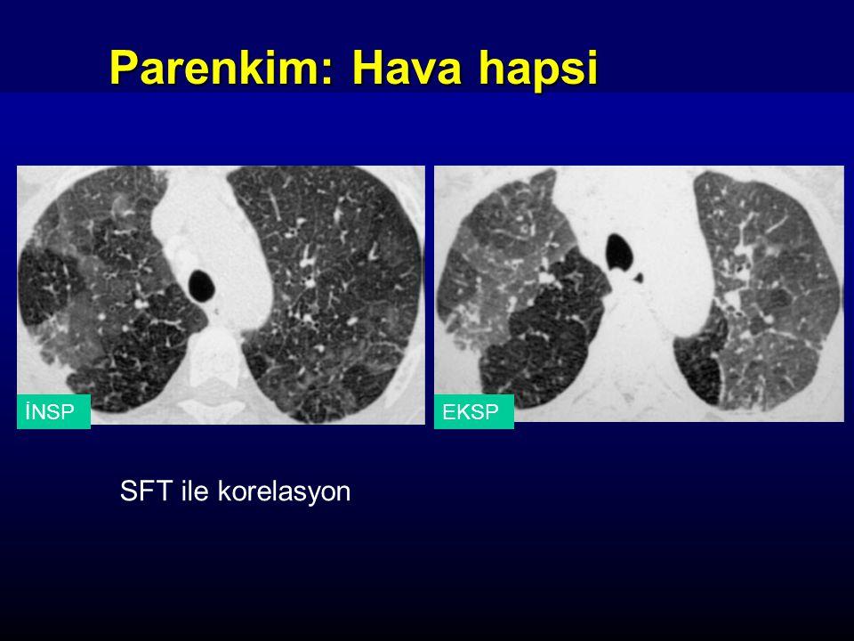 İNSPEKSP Parenkim: Hava hapsi SFT ile korelasyon
