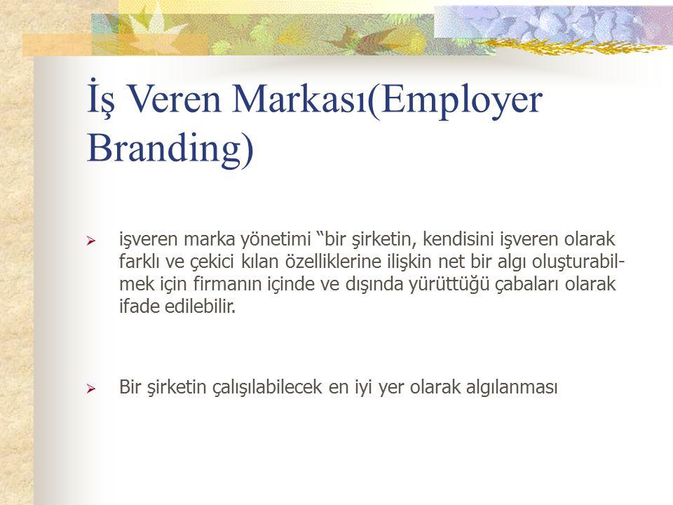 """İş Veren Markası(Employer Branding)  işveren marka yönetimi """"bir şirketin, kendisini işveren olarak farklı ve çekici kılan özelliklerine"""