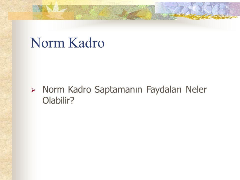 Norm Kadro  Norm Kadro Saptamanın Faydaları Neler Olabilir?