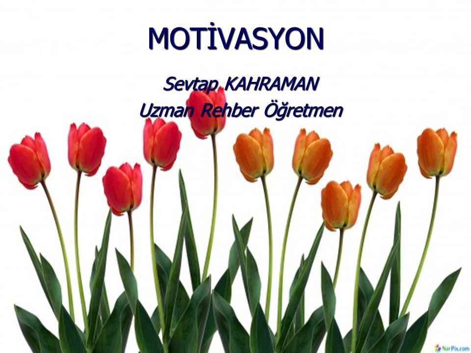MOTİVASYON Sevtap KAHRAMAN Uzman Rehber Öğretmen