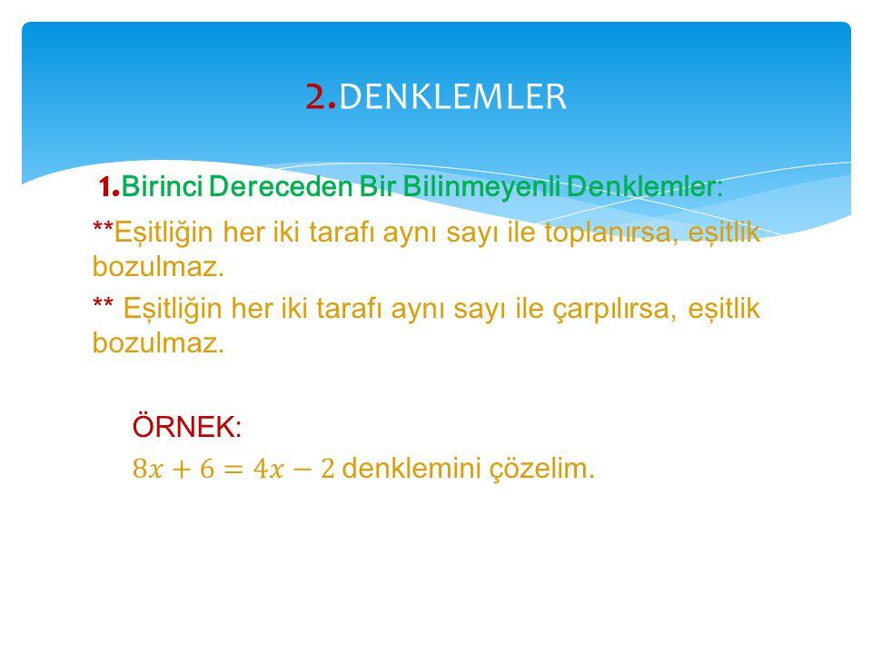 2. DENKLEMLER