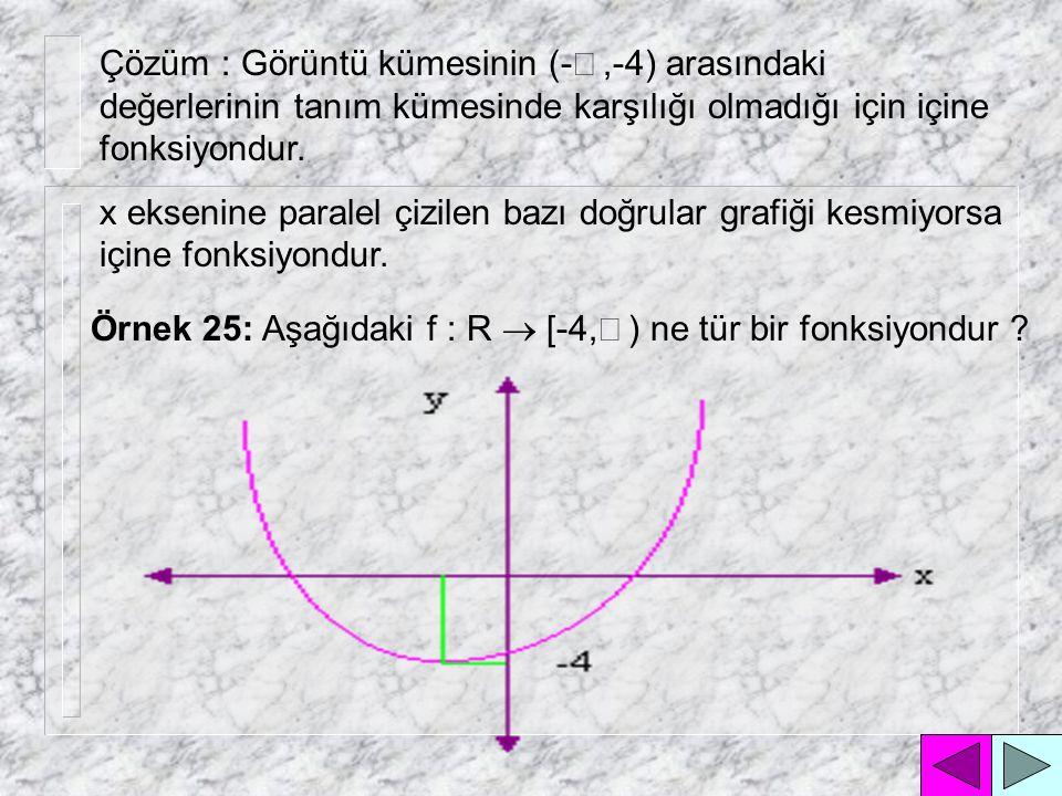 Örnek 23 : Birinci açıortay doğrusu ne tür bir fonksiyondur .