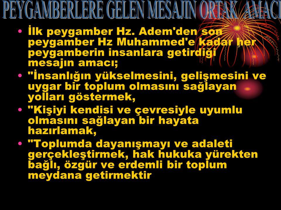 İlk peygamber Hz.