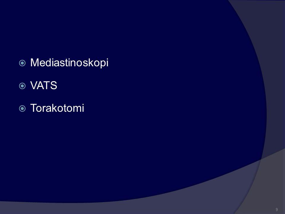  Mediastinoskopi  VATS  Torakotomi 9