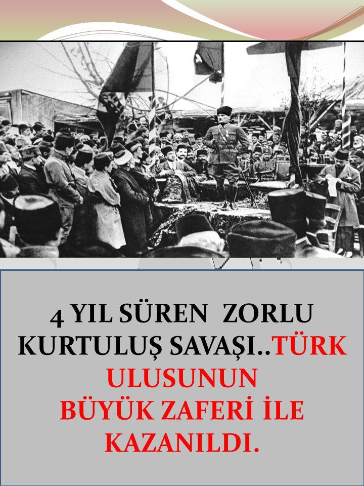 Ayten IŞILDAĞ19 19 Mayıs 1919'da Bandırma Vapuru'yla Samsun'a çıkarak Kurtuluş Savaşı'nı başlattı.