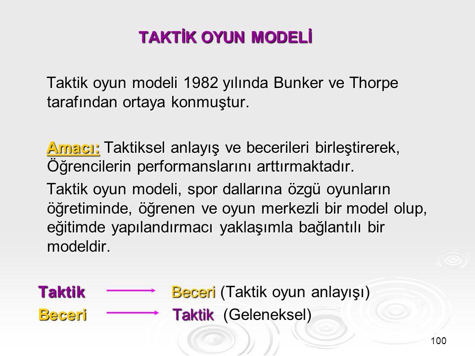 Bu modelde öğretimin felsefesi aşağıdakileri içerir.