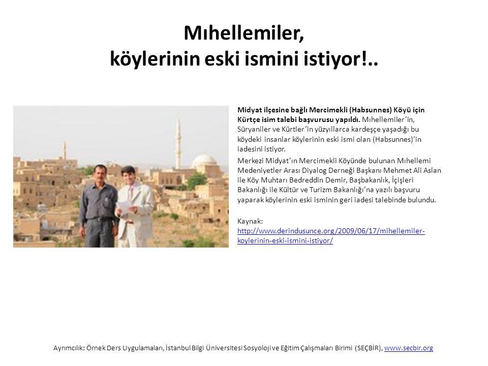 Midyat ilçesine bağlı Mercimekli (Habsunnes) Köyü için Kürtçe isim talebi başvurusu yapıldı.