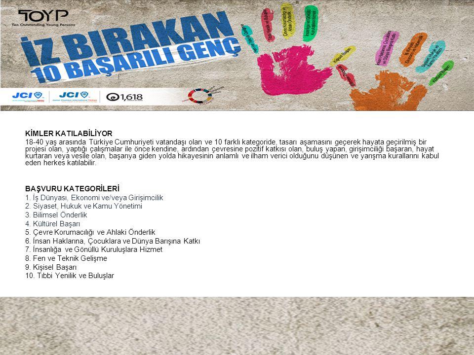 KİMLER KATILABİLİYOR 18-40 yaş arasında Türkiye Cumhuriyeti vatandaşı olan ve 10 farklı kategoride, tasarı aşamasını geçerek hayata geçirilmiş bir pro