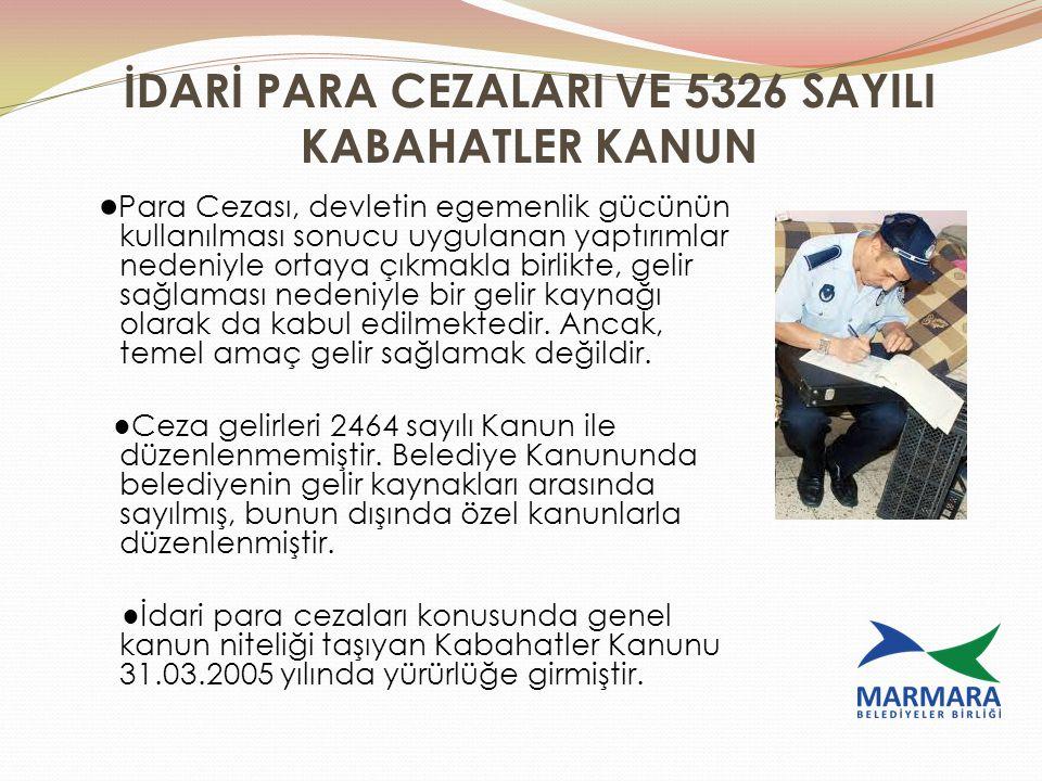 İDARİ PARA CEZALARI VE 5326 SAYILI KABAHATLER KANUN ● Para Cezası, devletin egemenlik gücünün kullanılması sonucu uygulanan yaptırımlar nedeniyle orta
