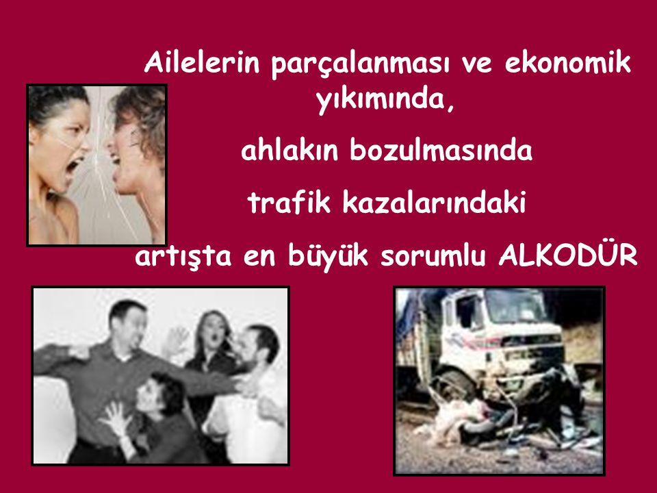 Ailelerin parçalanması ve ekonomik yıkımında, ahlakın bozulmasında trafik kazalarındaki artışta en büyük sorumlu ALKODÜR