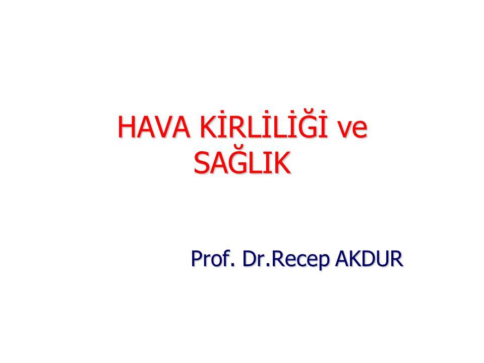 HAVA KİRLİLİĞİ ve SAĞLIK Prof. Dr.Recep AKDUR