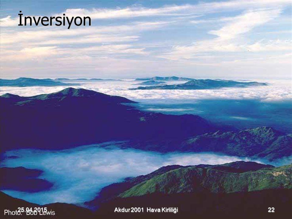 İnversiyon 22Akdur 2001 Hava Kirliliği
