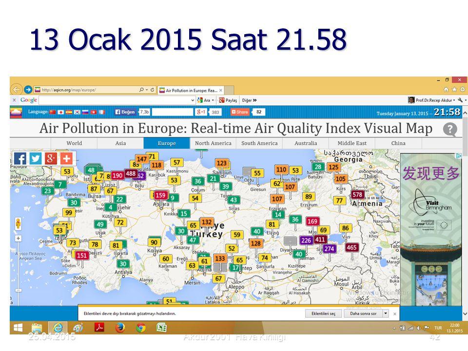 13 Ocak 2015 Saat 21.58 Akdur 2001 Hava Kirliliği4225.04.2015